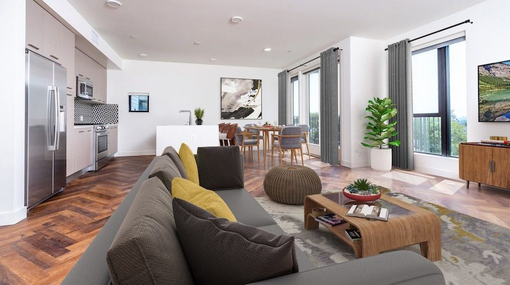 Kitchen + Living + Dining los-angeles-apartments-fitz-on-fairfax b9